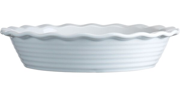 Ruffled Pie Dish in White by Home Essentials and Beyond
