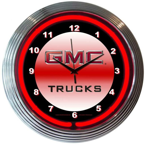 Bar and Game Room 15 RGMC Trucks Wall Clock by Neonetics