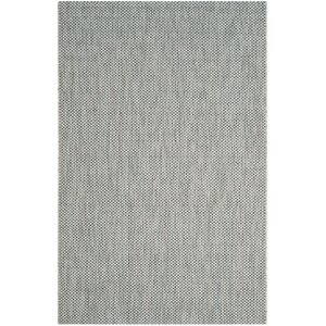Bolen Gray / Navy Indoor/Outdoor Area Rug