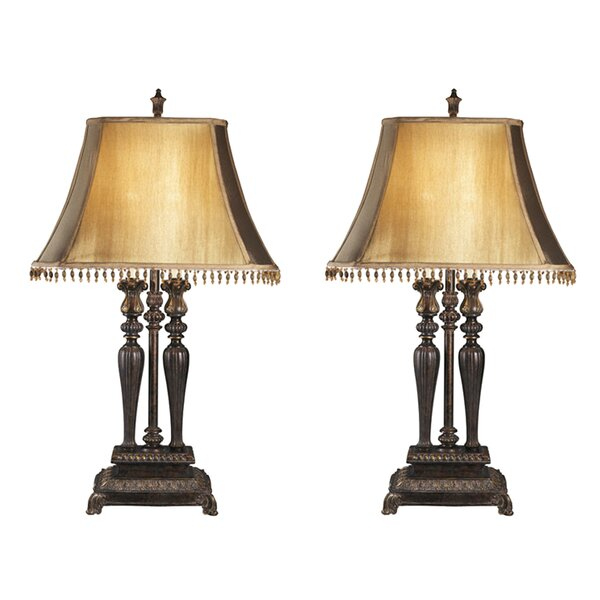 Carnglass More 2 Light Lamp Set (Set of 2) by Astoria Grand