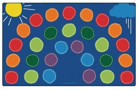 Rainbow Seating Area Rug by Carpets for Kids Premium Collection