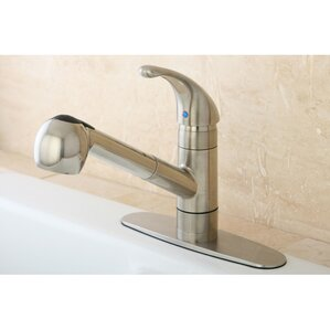 Kingston Brass Century Gourmetier Single Handle Pull-Out Spray Kitchen Faucet