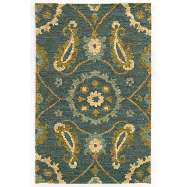 Tommy Bahama Valencia Blue / Green Floral Rug by Tommy Bahama Home
