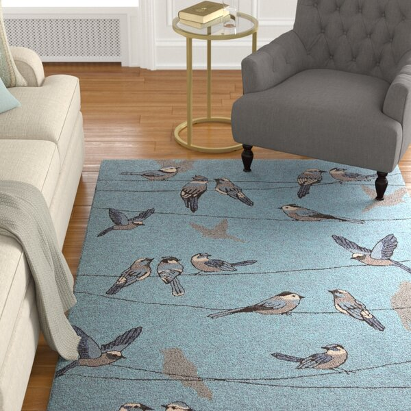 Edinburgh Handmade Blue Indoor/Outdoor Area Rug by Charlton Home