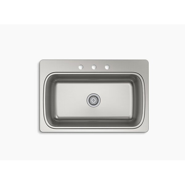 Verse 33 L x 22 W Top Mount Single Bowl Kitchen Sink by Kohler