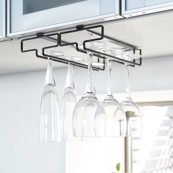 Canel Hanging Wine Glass Rack by Rebrilliant