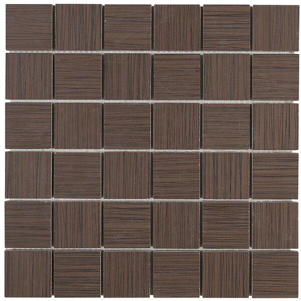Fabrique 12 x 12 Porcelain Wood Look Tile in Brun Linen by Daltile