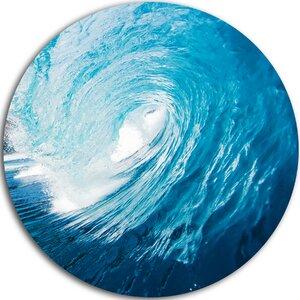 'Ocean Waves in Hawaii' Photographic Print on Metal by Design Art