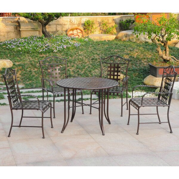 Snowberry 5 Piece Outdoor Dining Set by Three Posts