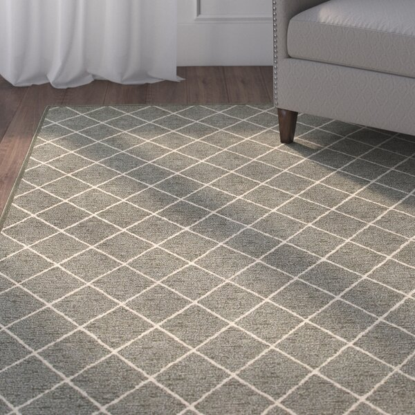 Decaro Gray/Ivory Trellis Area Rug by Alcott Hill
