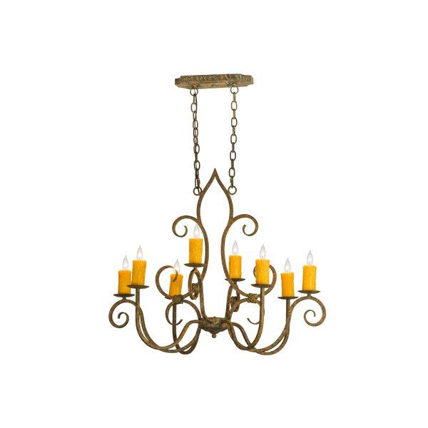 Eloi 8 - Light Candle Style Classic / Traditional Chandelier By Fleur De Lis Living