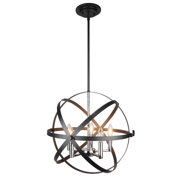 Keshawn 5-Light Candle Style Globe Chandelier by Wrought Studio Wrought Studio