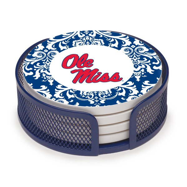 5 Piece University of Mississippi Collegiate Coaster Gift Set by Thirstystone