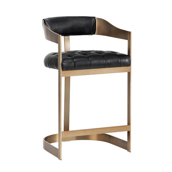 Club Beaumont Counter 26.5 Bar Stool by Sunpan Modern