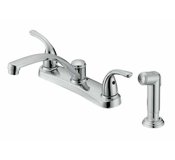 Touch Double Handle Kitchen Faucet with Side Sprayer by Oakbrook Collection
