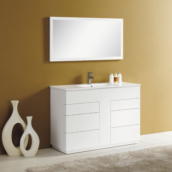 Cosmo 48 Single Vanity Set with Mirror by Adornus