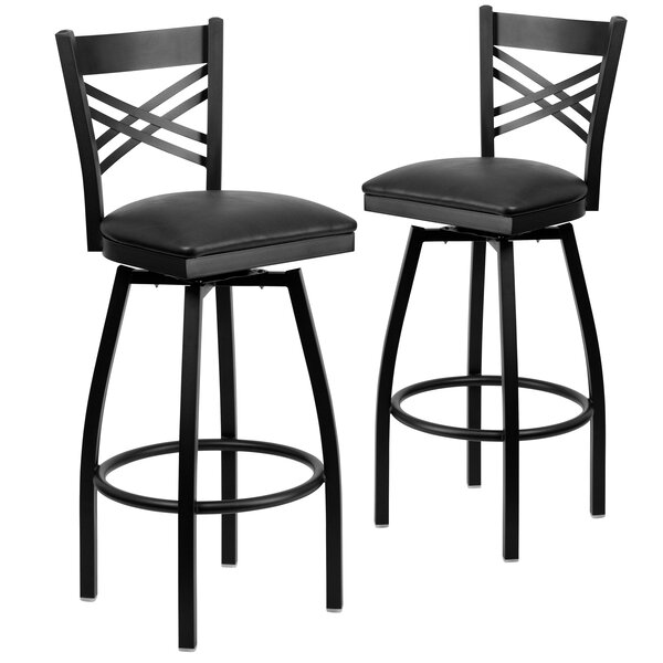 Chafin 32 Swivel Bar Stool (Set of 2) by Winston Porter