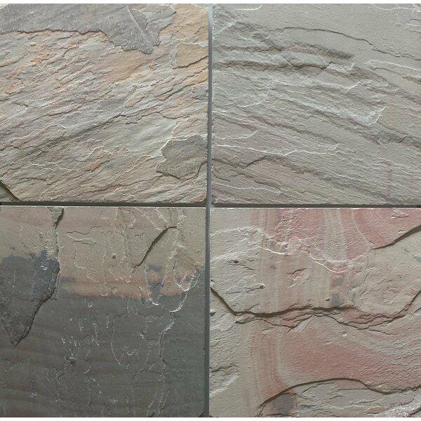 Select Pink Natural Cleft Face, Gauged Back 16x16 Slate Field Tile