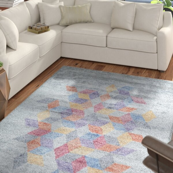 Brooks Hand-Tufted Gray Area Rug by Mercury Row