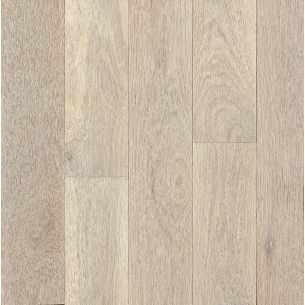 Turlington Signature Series 5 Engineered Northern White Oak Hardwood Flooring in Antiqued White by Bruce Flooring