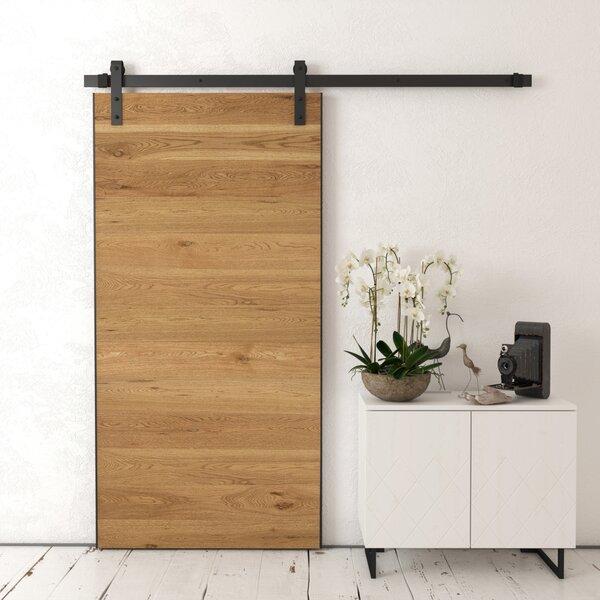 Baha Solid Wood Interior Barn Door by Urban Woodcr