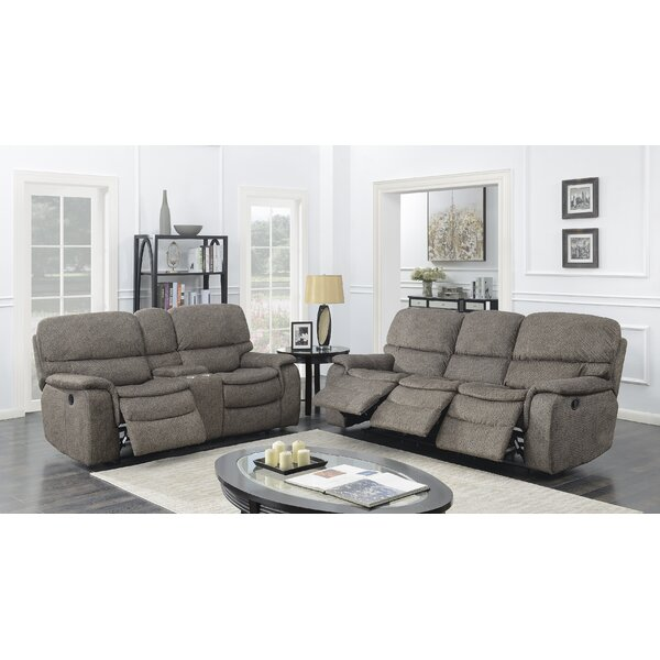 Aidan Reclining 2 Piece Living Room Set by Red Barrel Studio