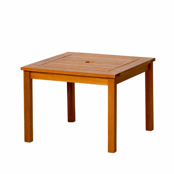 Yorkshire Umbrella Eucalyptus Side Table by Bay Isle Home