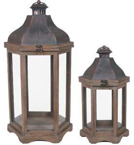 Decorative Metal/Wood Lantern by Gracie Oaks