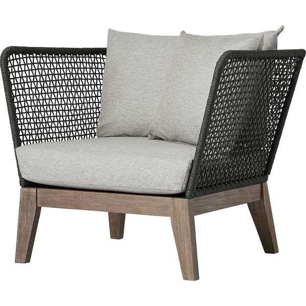 Ehlers Patio Chair with Cushions by Highland Dunes