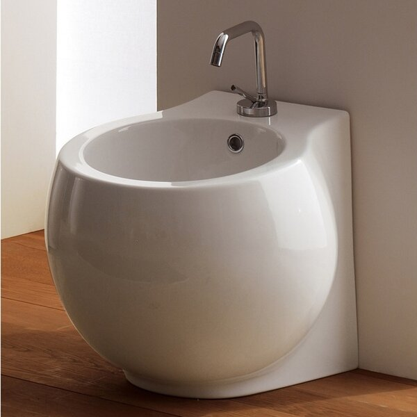 Planet 17.5 Floor Mount Bidet by Scarabeo by Nameeks
