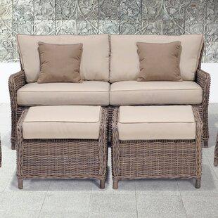Abana 3 Piece Sofa And Ottoman Set