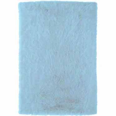 Samantha Hand-Tufted Faux Sheepskin Blue Area Rug by Threadbind