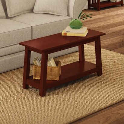 Kingsland Wood Storage Bench by Charlton Home