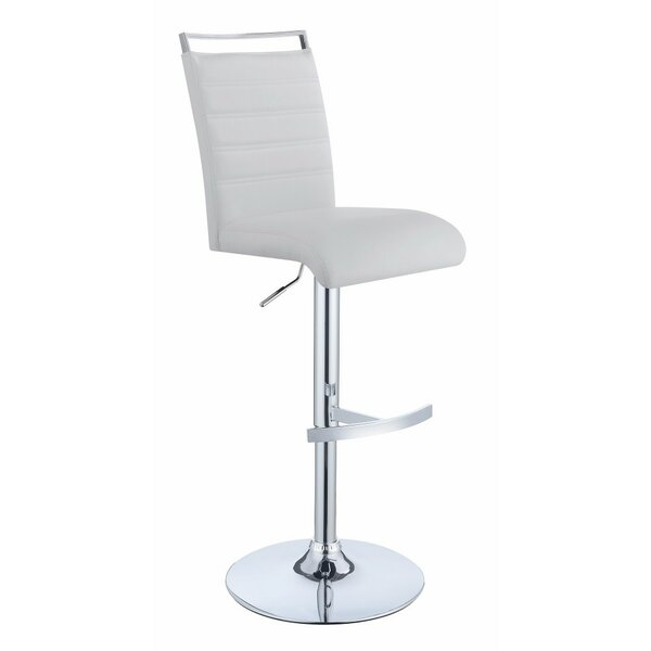 Wrobel Elegant Adjustable Height Swivel Bar Stool by Orren Ellis