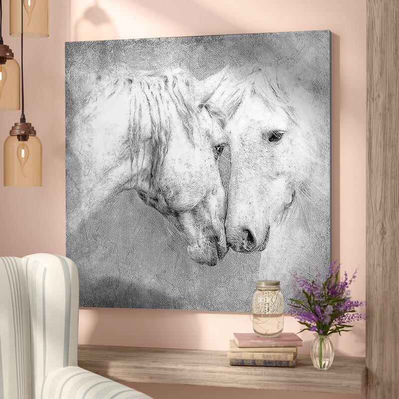 Laurel Foundry Modern Farmhouse \'Meeting Horses\' Framed Painting ...