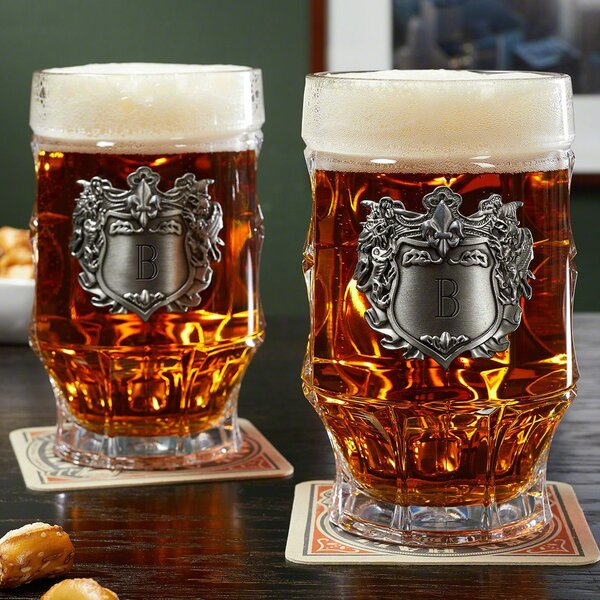 Nellis Strasbourg Steins 16 oz. Glass Mug (Set of 2) by Astoria Grand