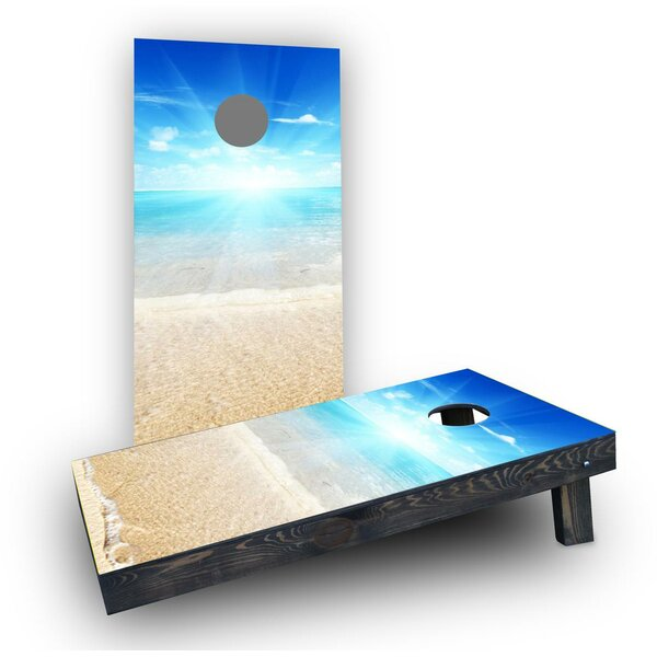 Sunny Day at the Beach Cornhole Boards (Set of 2) by Custom Cornhole Boards