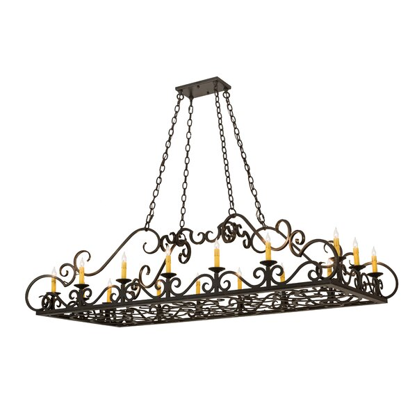 Alidge 16- Light Candle Style Rectangle Chandelier by Astoria Grand Astoria Grand