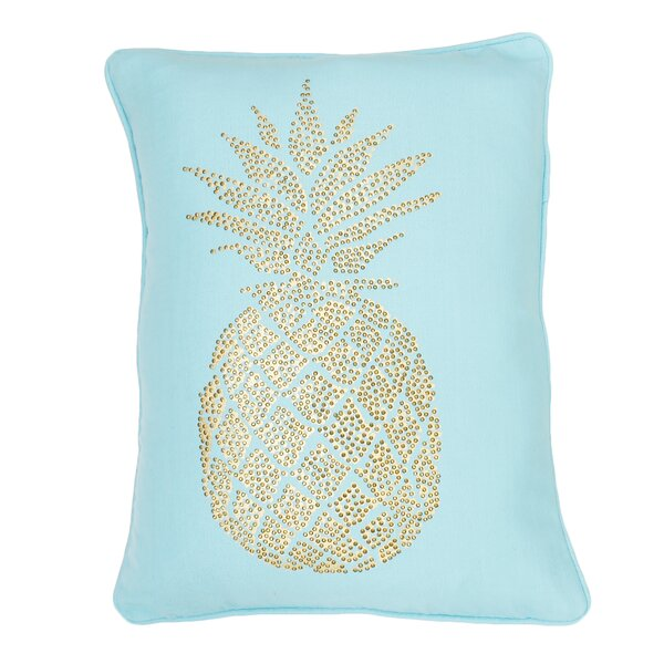 Elzada Pineapple Throw Pillow by Bayou Breeze