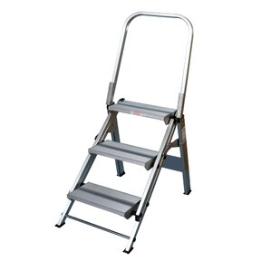 Xtend and Climb 3-Step Aluminum Folding Safety Step Stool with 330 lb. Load  sc 1 st  Wayfair & Step Stools Youu0027ll Love | Wayfair islam-shia.org