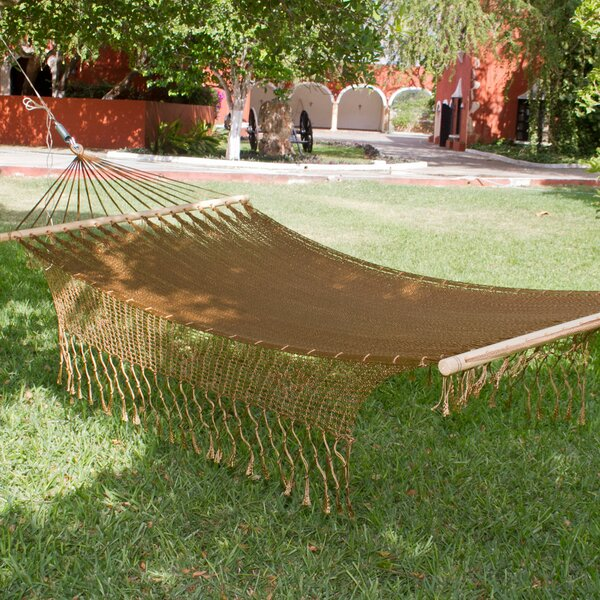 Single Person Portable Bronze Hand-Woven Mayan Artists of the Yucatan Nylon With Accessories Included Camping And Outdoor Hammock by Novica