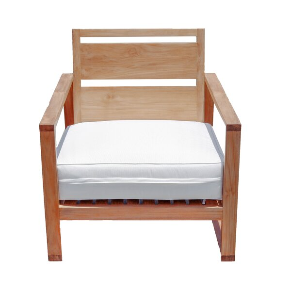 Catalina Bali Outdoor Teak Patio Chair with Cushion by Hives and Honey