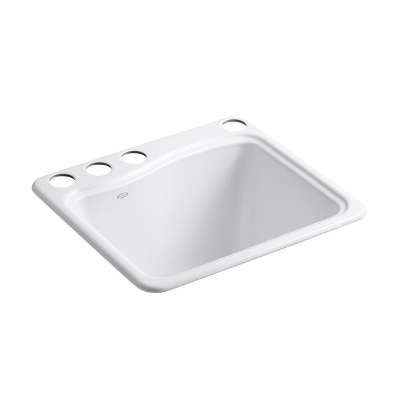 River Falls Under-Mount Utility Sink with 4 Faucet Holes - 3-Holes On Deck On The Left and Right-Hand Accessory Hole by Kohler