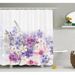 Burma Pink Purple Flowers Shower Curtain