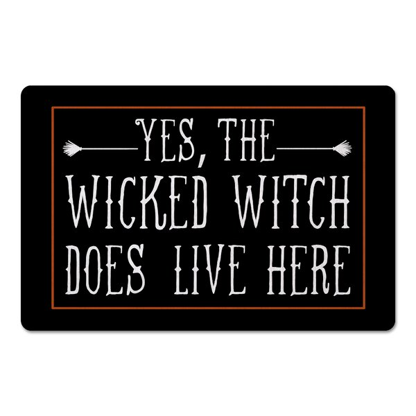 Placido Wicked witch Lives Here Kitchen Mat