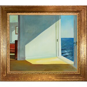 Rooms by the Sea by Edward Hopper Framed Painting by Tori Home