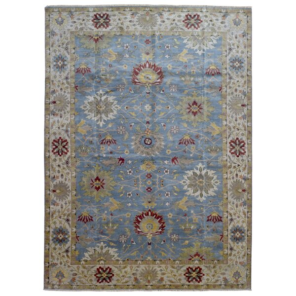 One-of-a-Kind Tanesha Oriental Hand Woven Wool Blue Area Rug by Darby Home Co