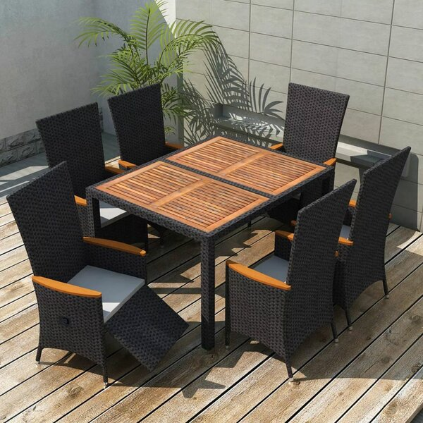 Southwick Outdoor 7 Piece Dining Set with Cushions by Ivy Bronx