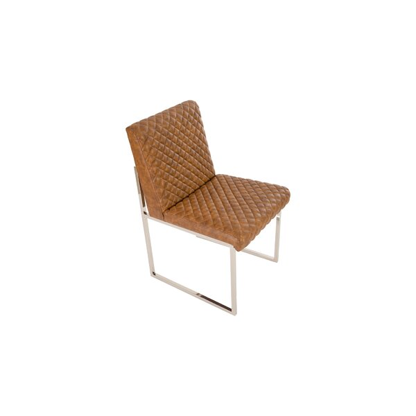 Croskey Cognac Quilted Upholstered Dining Chair by 17 Stories 17 Stories