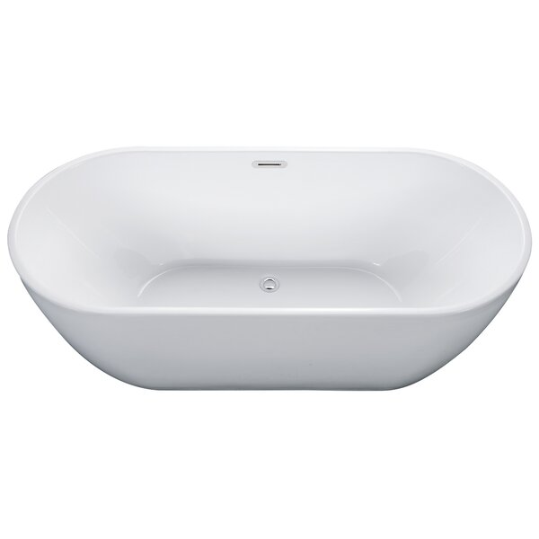 Oval Acrylic 67 x 30 Freestanding Soaking Bathtub by Alfi Brand